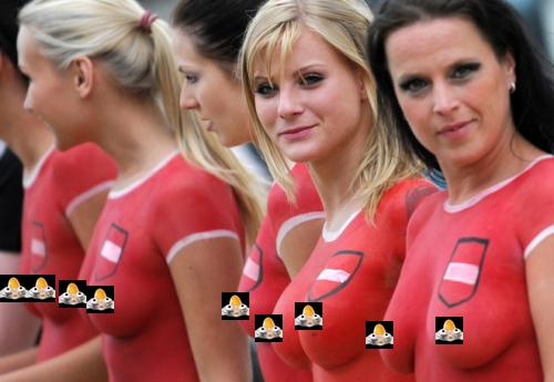 Can not body paint women soccer team
